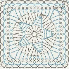 quadrato stella centrale