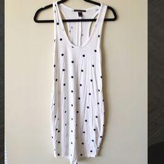 Victoria's Secret Swimsuit Coverup NWOT Victoria's Secret elongated tank/swimsuit coverup. White with navy blue polka dots. Super soft. Victoria's Secret Swim Coverups