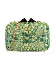 Beads PU Clutch Bag