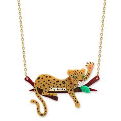 Leopard 'Branch' Necklace | Little Moose | Quirky jewellery and playful accessories that raise a smile and stand out from the crowd