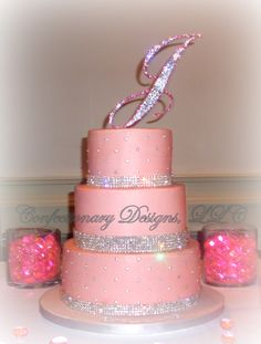 Fancy 40th Birthday Cake That Would Also Fit Nicely For A Wedding Cakes