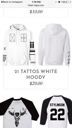 Twenty one pilots tattoo sweatshirt