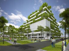 """Vo Trong Nghia's FPT University Ho Chi Minh City is Inspired by a """"Forested Mountain"""""""