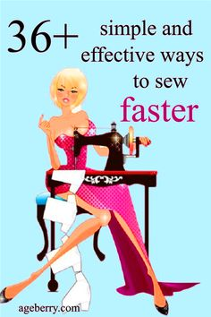 Improve your fashion sewing skills by checking out my sewing tutorial 36 simple and effective ways to sew faster. Learn how to sew faster, better, nicer, how to get better at sewing, how to cut fabric faster. There are many tricks to sew easier and faster. #sewingtutorials #sewingforbeginners #sewingprojects #sewingtips Sewing Nook, Sewing Art, Fashion Sewing, Diy Fashion, Sewing Hacks, Sewing Tutorials, Clothing Patterns, Sewing Patterns, Sewing With Nancy