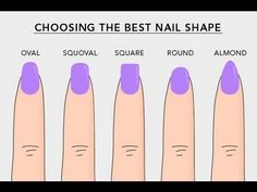 Learn about different nail shapes in this informative video (found on the Beautylish app).