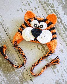 Ravelry: Tiger Earflap Hat pattern by Bailee Wellisch