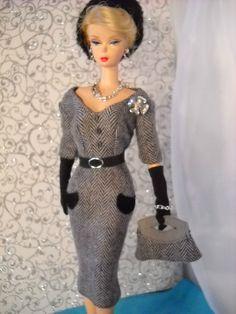 *Black Tweed* Vintage Barbie Silkstone Fashion Royalty Victoire Roux OOAK 9 pce | eBay