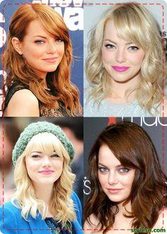 Emma Stone's Hair style 2014