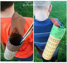 No sew kids quiver upcycled DIY arrow holder