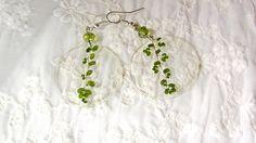 Plant jewelry moss earring Green earrings Gift for от ArtOreCrafts