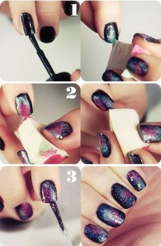 Nail tutorial.   Black&& gold.  Follow me for more fashion&& hair tips.