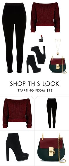 """""""Untitled #971"""" by patrisha175 ❤ liked on Polyvore featuring River Island, Casadei, Chloé, Givenchy and NARS Cosmetics"""