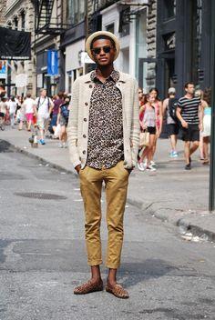 He pulls off leopard print