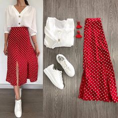 on the go outfits Mode Outfits, Skirt Outfits, Trendy Outfits, Modest Fashion, Fashion Dresses, Mode Hijab, Mode Inspiration, Dress To Impress, Spring Outfits