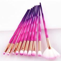 7/10pcs Unicorn diamond Makeup Brushes Set