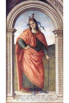 Cato. Perugino. 1497-1500. Fresco.  Collegio del Cambio. Perugia.