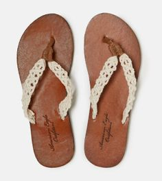 AEO Crocheted Flip-Flop, there's something about them that I really like!!