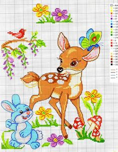 Ricami, lavori e centinaia di schemi a punto croce di tutti i tipi, gratis: Crosstich pattern free - Bamby