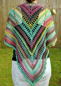 The Lydia Shawl: free pattern---would do this in a soft bamboo yarn and stop at scarf-size, maybe.