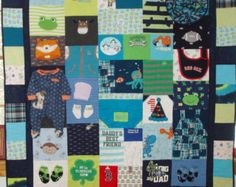 MADE TO ORDER Quilt from your Baby clothes - Down payment