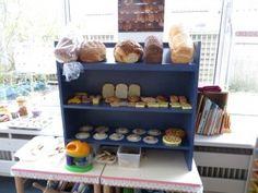 Broodkast in de bakkershoek, kleuteridee.nl , thema bakker voor kleuters