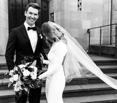 A frame from today's Real #Wedding, unfolding in #Melbourne & featuring 3 gown changes, from a backless Stella McCartney to a sculptural Toni Maticevski silhouette (Link in profile) / Photography by @erinandtara