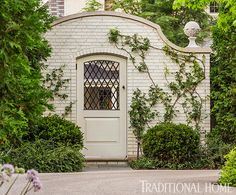 Garden Door; Pretty, Polished Garden in Illinois | Traditional Home