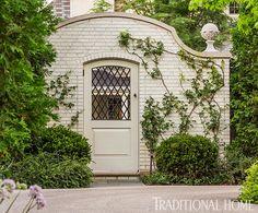 Garden Door; Pretty, Polished Garden in Illinois | Traditional Home