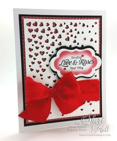 Love and Kisses Valentine by Sheri Holt for The Stamp Simply Ribbon Store.
