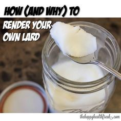 How - and why - to Render Your Own Lard ~ www.thehappyhealthfreak.com