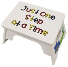 Add Vinyl to a kid's step stool!