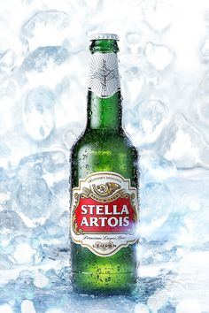 Full CGI render of a Stella Artois beer bottle in ice. Cgi, Layout Design, Stella Artois Beer, Alcohol Bottles, Beer Bottles, Buy Beer, Beer Poster, Beer Packaging, Beer Lovers