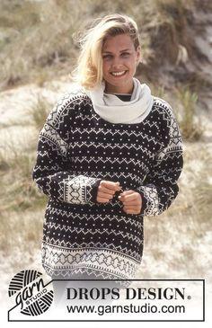 DROPS 35-11 - DROPS nordisk tröja i Karisma med luser och Zig Zag-mönster