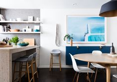 Feeling Blue - How Cuyana's Two Founders Styled Their Homes (Using One Designer) - Photos
