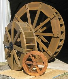 Site for a guy who makes waterwheels. Has info on hydro electric--but no pictures on that page so linked to the main page :)