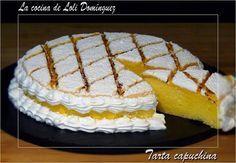 Compuesta de bizcocho, crema de yemas y merengue. Una delicia del blog LA COCINA DE LOLI DOMINGUEZ. Jello Recipes, Baking Recipes, Cake Recipes, Dessert Recipes, The Joy Of Baking, Pastry And Bakery, Almond Cakes, Cute Cakes, No Bake Desserts