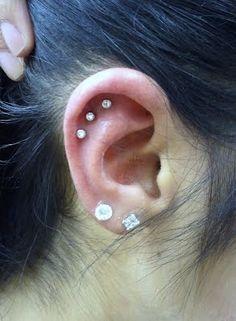 Triple ear piercing!     #irl makes me smile