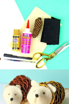 Make your own DIY pinecone hedgehog with Beacon Felt Glue! This craft is also great to do with kids! Pinecone Crafts Kids, Pine Cone Crafts, Diy For Kids, Crafts For Kids, Felt Glue, Kids Decor, Pine Cones, Kids Christmas, Hedgehog