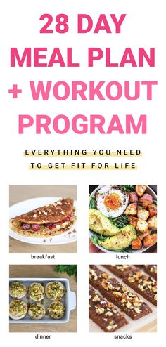 Breakfast Lunch Dinner, Breakfast Ideas, Different Exercises, Fitness Fun, Nutrition Plans, Build Muscle, Workout Programs, Fun Workouts, Fat Burning