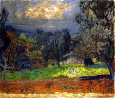 Pierre Bonnard, Landscape at Sunset (Le Cannet)  on ArtStack #pierre-bonnard #art