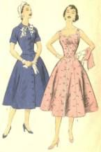 The Happy Homemaker- Dresses with tiny waists and full skirts.