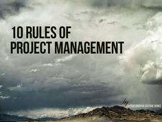 10 Rules of Project Management Presentation Powerpoint Keynote