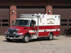 Palatine Fire Department (IL)  Ambulances are units that are used to provide medical care and transportation of sick and injured patients. Our ambulances are staffed with two firefighter / paramedics. They are equipped with a large complement of state-of-the-art, Advanced Life Support medical equipment, including cardiac monitor / defibrillator / external pacemaker units that are also capable of taking 12-lead ECGs http://setcomcorp.com/900eintercom.html