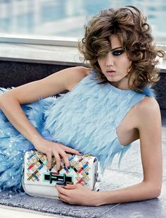 -Lindsey Wixson for Fendi Spring/Summer 2015 Advertising Campaign, photo by Karl Lagerfeld.