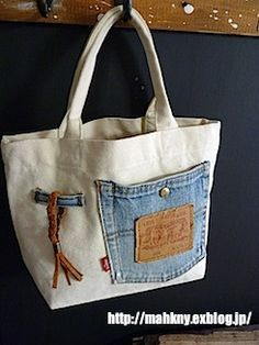 Bag Pattern Free, Denim Ideas, Denim Crafts, Recycle Jeans, Denim Bag, Handmade Bags, Purses And Bags, Tote Bag, Bag Tutorials