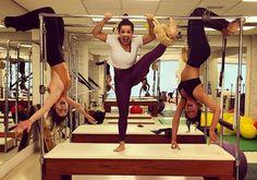 A aula de pilates de Fernanda Souza e Bruna Marquezine