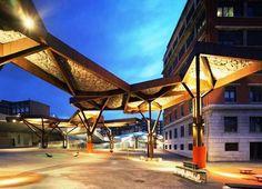 Project: Pormetxeta Square   Designers: Xpiral and MTM Arquitectos  Location: Barakaldo, Bilbao, Spain    More Info: http://www.dezeen.com/2011/05/17/pormetxeta-square-by-mtm-arquitectos/