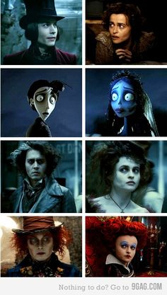 Johnny Depp + Helena Bonham Carter  yet they arent married!  she is married to tim burton!