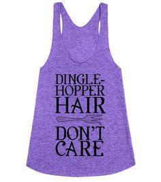 The Little Mermaid - Dinglehopper hair don\'t care!  | T-Shirt | SKREENED