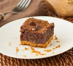 S'more Brownies.  Freshly crushed graham cracker sheets make the best crumb crusts. I am NOT a fan o...